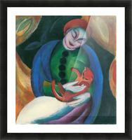 Girl with a Cat II by Franz Marc Picture Frame print