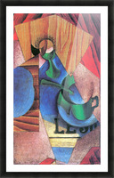 Glass, cup and newspaper by Juan Gris Picture Frame print