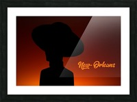 New-Orleans shadow Picture Frame print