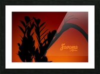 Savana Africa Picture Frame print