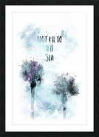 Modern Art TAKE ME TO THE SEA | jazzy watercolor Picture Frame print