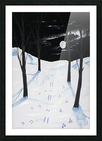 Nightime Snow Tracks Picture Frame print