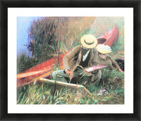 Paul Helleu stands with his wife by John Singer Sargent Picture Frame print