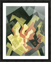 Guitar and Fruit Bowl -2- by Juan Gris Picture Frame print