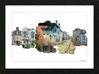 Maisons de Montréal Picture Frame print