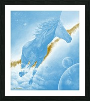 Celestial Horse Picture Frame print