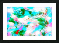 Angelic High - white blue pink green swirls abstract wall art Picture Frame print