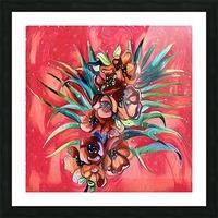 Vibrant Colors Tropical Floral Picture Frame print
