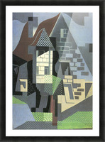 Houses in Beaulieu by Juan Gris Picture Frame print