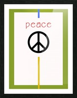 PEACE Picture Frame print