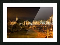 Bath at night Picture Frame print