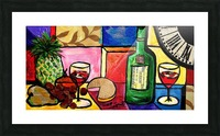 Still Life Fruit and Wine Picture Frame print