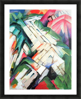 Mountains - landscape by Franz Marc Picture Frame print
