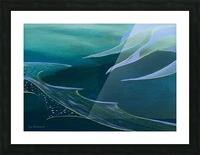 Teal Abstraction Picture Frame print