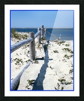 Nauset Beach Fence - Cape Cod Massachusetts Picture Frame print