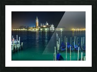 Venice by night Picture Frame print