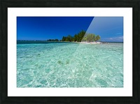 Tropical Cay Picture Frame print