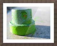 GREEN CAP Picture Frame print