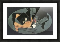 Playing cards and siphon by Juan Gris Picture Frame print