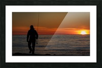 Sunset fishing Picture Frame print