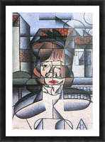 Portrait of Madame Germaine Raynal -1- by Juan Gris Picture Frame print