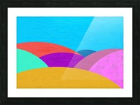 Fabulous hills Picture Frame print