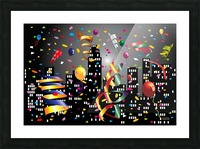 1-Nighttime Celebration in the Big City Picture Frame print