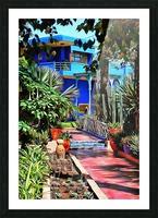 Approach To Cubist Villa Jardin Majorelle Picture Frame print