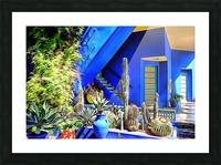 Cubist Villa Jardin Majorelle Marrakech Picture Frame print