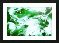 Clover - green white abstract swirl wall art Picture Frame print