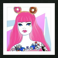 Candy Girl Picture Frame print