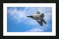 F-22 raptor Picture Frame print