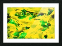 Golden Synchronicities - gold green abstract swirl wall art Picture Frame print