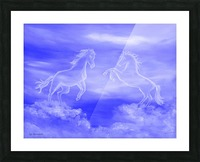 Horse Spirit Clouds Picture Frame print