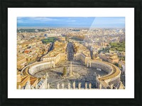 24996996 rome aerial view from saint peter basilica viewpoint Picture Frame print
