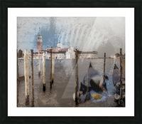 Venise le gondolier Picture Frame print