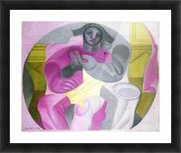 Sitting Harlequan by Juan Gris Picture Frame print