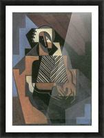 Sitting peasant woman by Juan Gris Picture Frame print