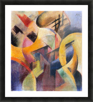Small composition I by Franz Marc Picture Frame print