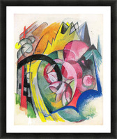 Small composition II by Franz Marc Picture Frame print