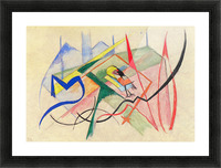Small mythical creatures by Franz Marc Picture Frame print