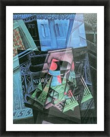 Still life and urban landscape (Place Ravignan) by Juan Gris Picture Frame print
