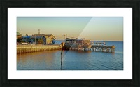 Cedar Key Florida - Sunset On The Wharf Picture Frame print