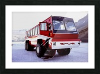 Snow Coach To The Columbian Ice Fields - Canada Picture Frame print