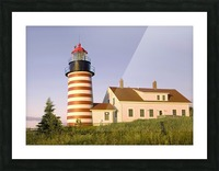 Dawn At Quoddy Head Light Picture Frame print
