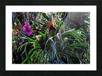 Stag Horn And Orchid Fantasy Garden Picture Frame print