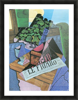 Still Life with geraniums by Juan Gris Picture Frame print