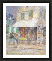 Provincial town by Hassam Picture Frame print