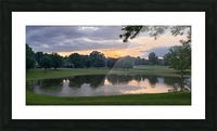 Sunset Pond Picture Frame print