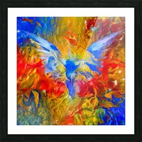 Flaming Eye of God Picture Frame print